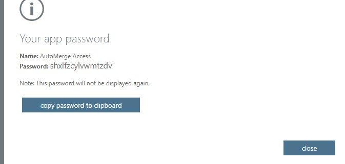 App Password Dialog